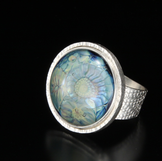 "Blue ""Sea Flowers"" Ring"