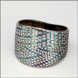 silver cigar band ring