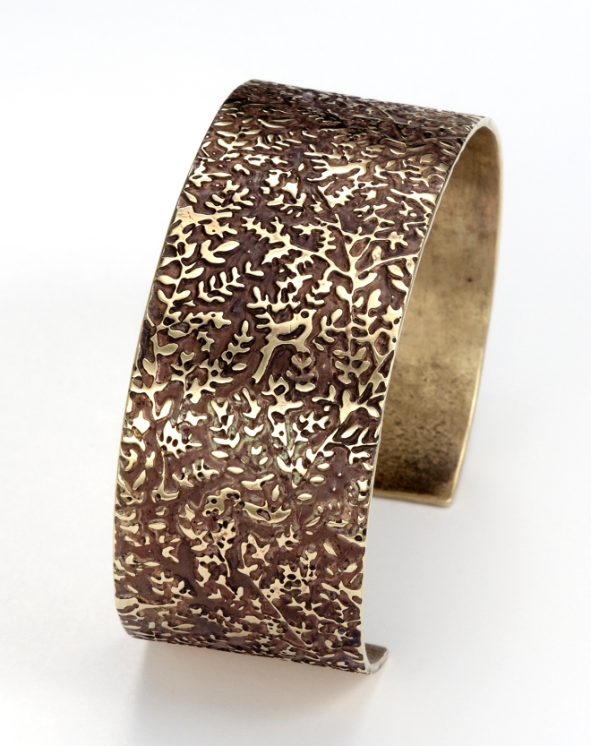 bird cuff photo etched
