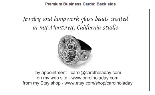 Carol Holaday card