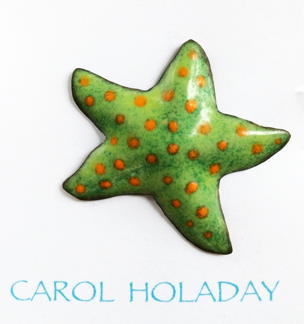 SEA STAR orange dots card