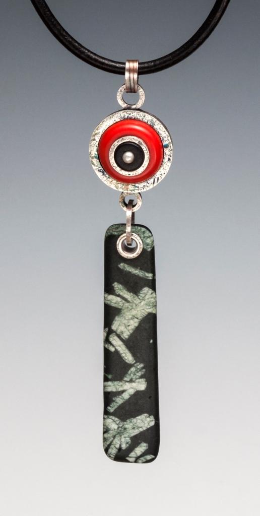 Bull's Eye Talisman, pendant, Carol Holaday