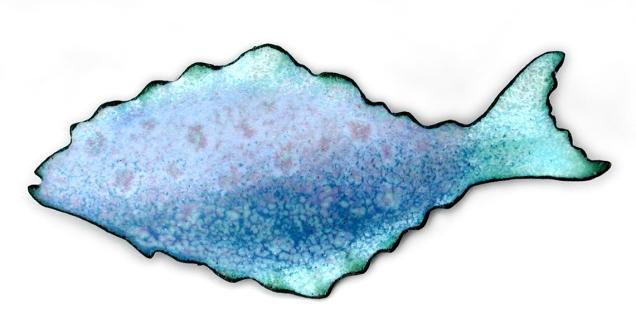 Carol Holaday fish brooch